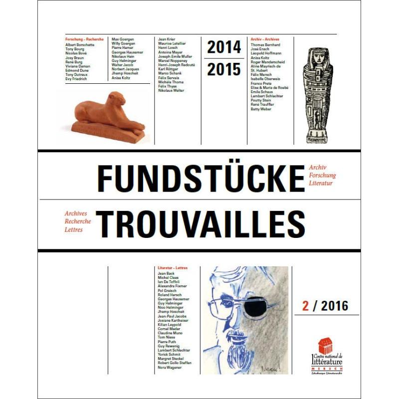 Trouvailles. Archives – Recherche – Lettres 2014-2015