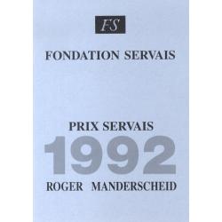 Prix Servais 1992 Roger...