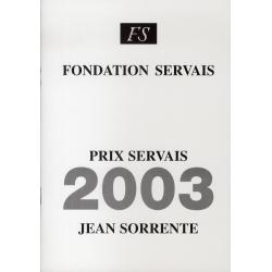 Prix Servais 2003 Jean...