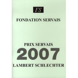 Prix Servais 2007 Lambert...
